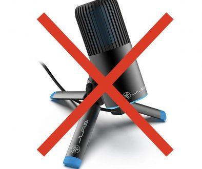 Algunos micrófonos no recomendables para podcasting