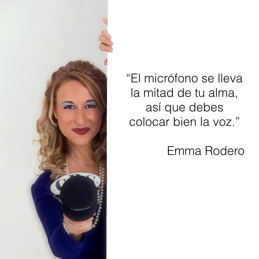 Emma Rodero colocar bien la voz