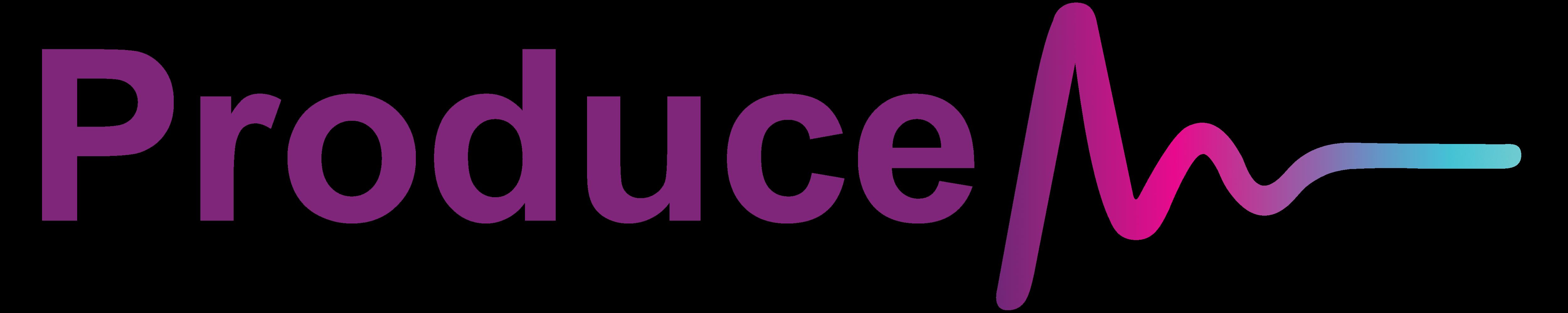 Logo Produce Audio Horizontal