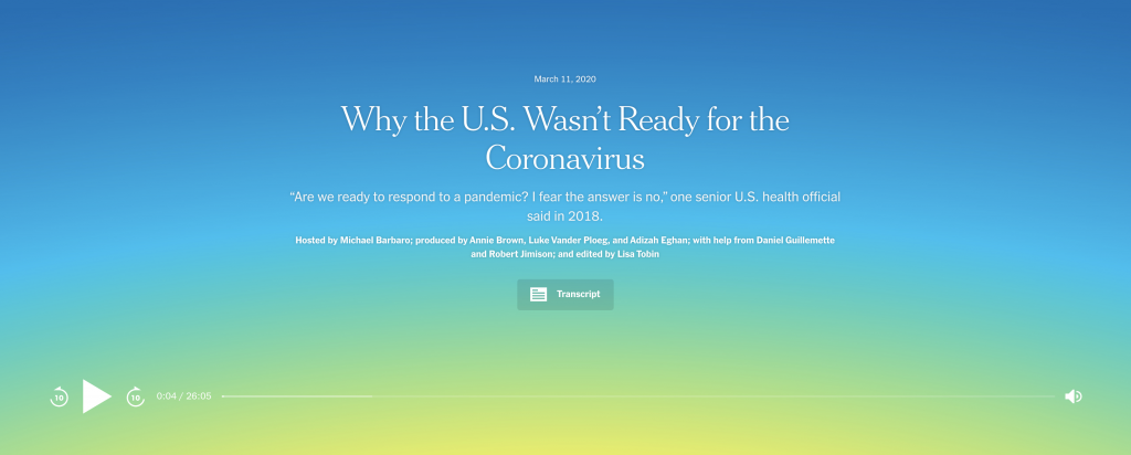 Why the U.S. Wasn´t Ready for the Coronavirus