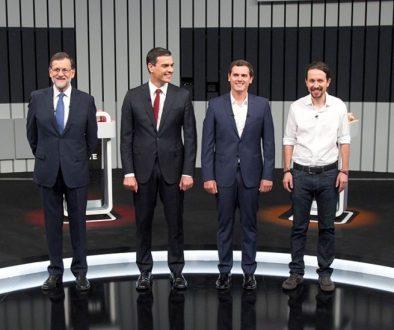 el debate electoral suspende en sonido